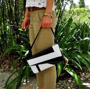 Used, Zebra Retro Snake Skin Pattern Clutch Shoulder Bag for Sale for sale  Miami, FL