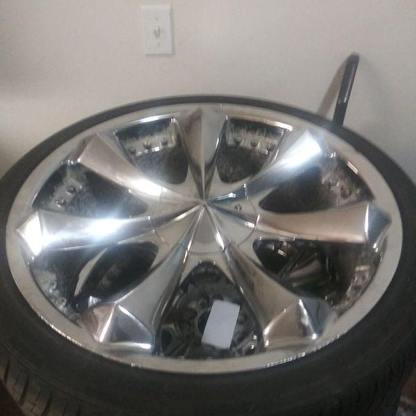 5lug Universal 22inch Wheels N Tires 800 Cash As Is No