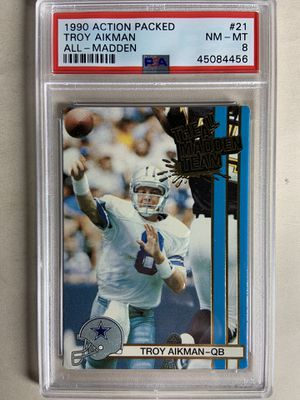 1990 action packed Troy aikman all madden team #21 psa 8 for Sale in La Mesa, CA