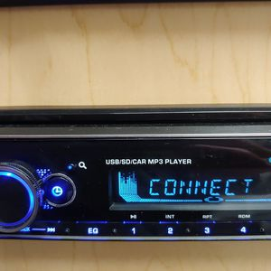 Blaupunkt mp3 receiver with detachable faceplate Bluetooth usb aux remote control 4 channel audio output ( not cd player ) for Sale in Downey, CA