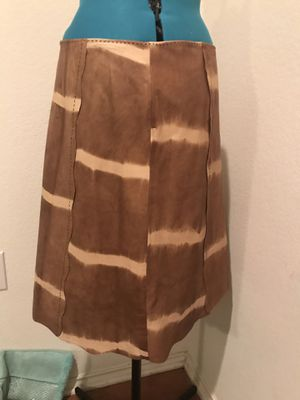 Worth genuine leather a-line skirt size 12 -nwot for Sale in Austin, TX