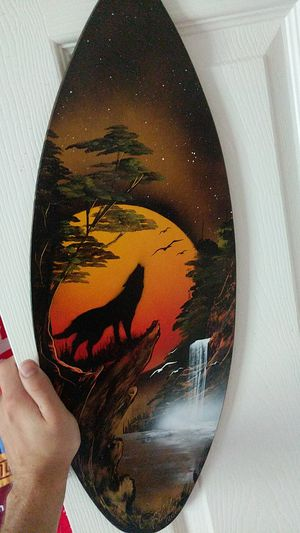 Howling Wolf on a Surfboard for Sale in Norcross, GA