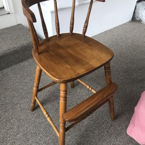 High Chair - Solid Wood for Sale in West Hartford, CT
