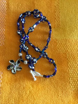 Fashion necklace / Blue and silver Czech beads for Sale in Alexandria, VA