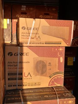 Gree. Ductless heating and cooling ❄️🔥 1 ton AC units cold/heat for Sale in Dallas,  TX