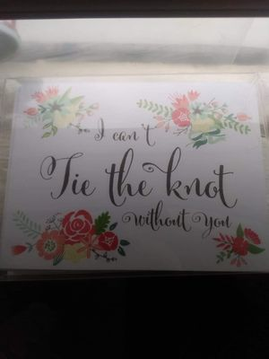 Tie the knot cards for Sale in Terre Haute, IN