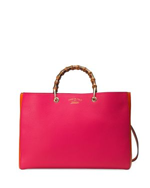 Gucci Bamboo Large Shopper Tote Bag, Fuchsia/Orange for Sale in Phoenix, AZ