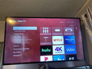65 inch tcl flat screen smart tv roku for Sale in Methuen, MA