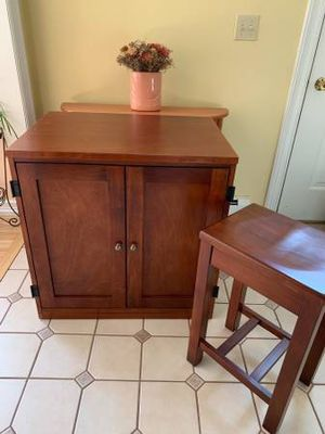 Cabinet Desk with Matching Stool for Sale in New Ipswich, NH