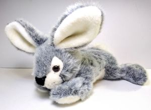 A&A Plush Inc Gray White Realistic Bunny Rabbit Stuffed Animal Floppy Easter Toy for Sale in Garland, TX