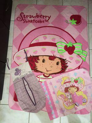 ALL 3 for the price!! Strawberry Shortcake blanket, pillow cover, AND butterfly diaper holder // LAS 3 por el precio! VEA TODAS FOTOS for Sale in Hialeah, FL