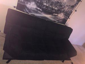 Black memory foam futon for Sale in San Diego, CA