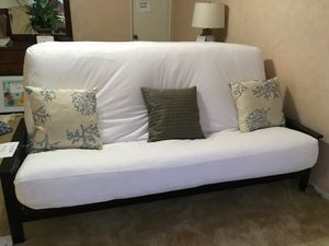 Moving must sell Oak FUTON, Dbl size, very comfortable. See it at Estate sale, Feb 19, 1-4, in Burbank for Sale in Burbank, CA