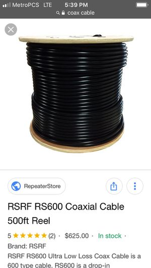 Coax Cable ALL colors and types for Sale in Washington, DC