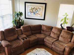 Brown Micro Fiber Reclining Sectional for Sale in Smyrna, GA