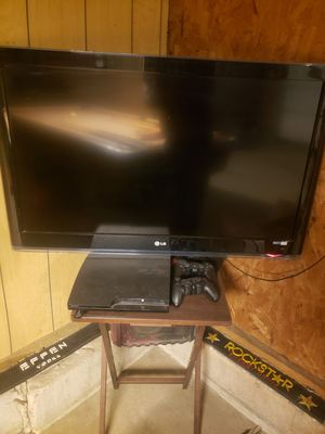 42 inch lg flat screen TV with ps3 for Sale in US