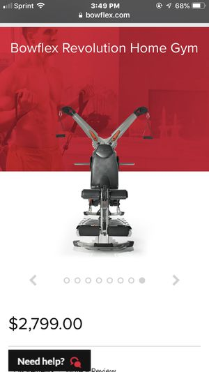 Bowflex revolution home gym with extra weights for Sale in Burbank, CA