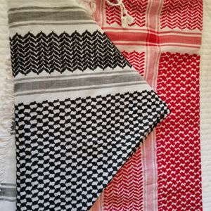 Two New Red & white, black & white Keffitey Shemagh Arab Scarf Cotton Unisex Hatta. for Sale in Phoenix, AZ