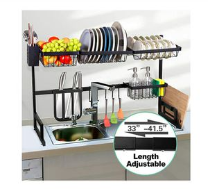 Dish Drying RackOver Sink, Length Adjustable 33 to 41 inches NEW ½ PRICE for Sale in Virginia Beach, VA