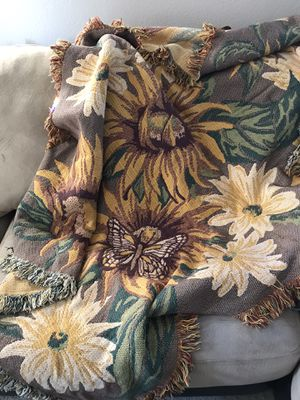 Sunflower and Butterfly Throw / Blanket for Sale in Henderson, NV