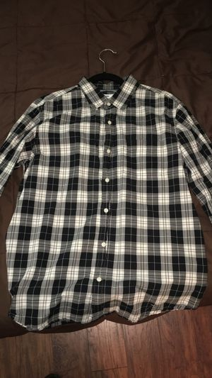 Black/White Plaid Shirt (Size M) for Sale in Lorton, VA
