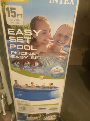 "Intex 15' x 48"" Inflatable Easy Set Above Ground Swimming Pool w/ Ladder & Pump for Sale in Greenbrae, CA"