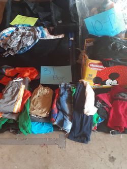 all sizes children abd babys clothes .come fill a grocery bag for Sale in Stockton,  CA