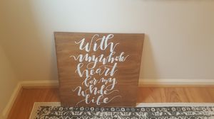 Wedding Sign/Board, calligraphy for Sale in Alexandria, VA