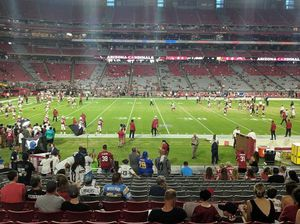 2 or 4 Arizona Cardinals 25 yard line tickets Section 132 row 16 for Sale in Phoenix, AZ