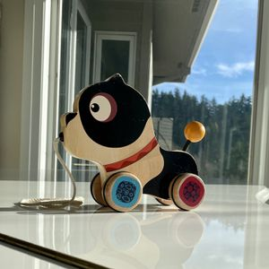 BbBb.toys bE Happy Go Puppy - Wooden Pull Toy - Walk-A-Long Pull Toy for Sale in Portland, OR