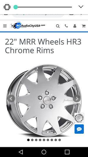 "Set of 22"" MRR Wheels HR3 Chrome Rims w/tires for Sale in Columbus, OH"