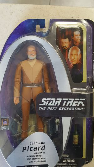 Star Trek the next generation Jean Luc Picard toy rocket captain action figure 30 for Sale in City of Industry, CA