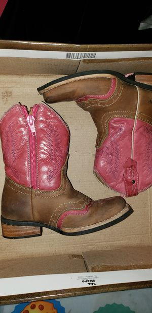 Pink & Brown Little Girl Boots for Sale in Dallas, TX