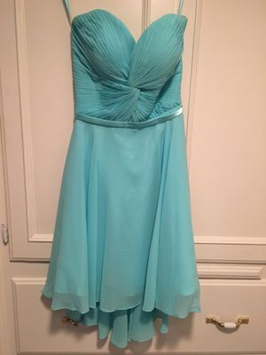 Teenager/woman's blue chiffon strapless dress size 4-6 for Sale in Fresno, CA