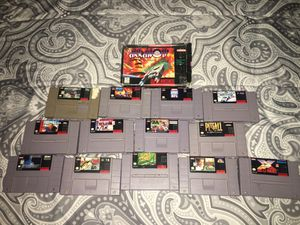 Super nintendo games for Sale in Westminster, CO