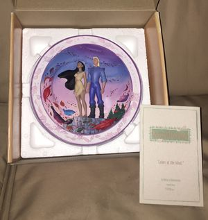 Pocahontas limited edition 'Colors of the Wind' collectible plate for Sale in Chesapeake, VA