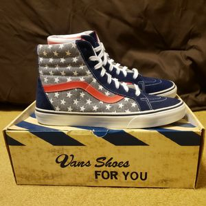 Vans SK8-HI Reissue Stars And Stripes Size 11. $60 for Sale in Hollywood, FL