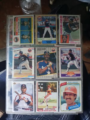 Old Houston Astros Baseball Cards for Sale in Houston, TX