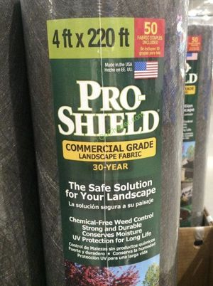 $25 NEW pro-shield landscaping landscape bed erosion control under deck or fake grass shield 4ft x 220 ft (880 sq ft) for Sale in South El Monte, CA