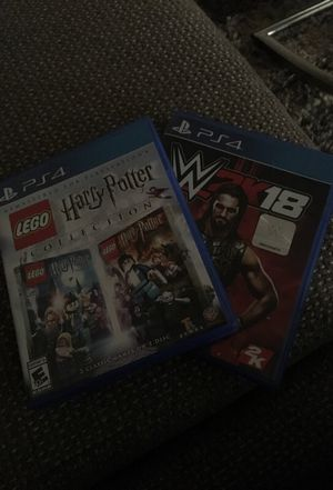 wwe2k18 brand new barely played it & LEGO Harry Potter Collection 1-7 for Sale in Philadelphia, PA