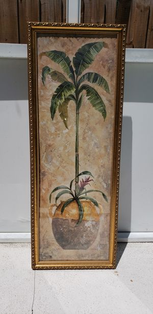 Beautiful Gold Framed Topiary Print for Sale in Eustis, FL