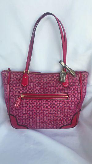 Coach Poppy pink metallic signature tote purse for Sale in Everett, WA