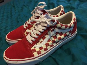 Red and white Vans for Sale in Pocomoke City, MD
