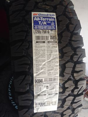 Bf goodrich Lt285/75r16 brand new for Sale in Los Angeles, CA