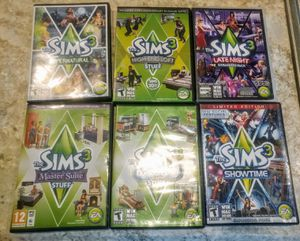 6 sims3 computer games for Sale in Davenport, IA