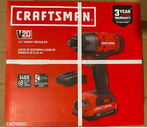 "CRAFTSMAN 20V LITHIUM 1/4"" IMPACT DRIVER KIT VALUE AT $99.99 for Sale in Hartford, CT"