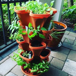 Stacking Planter Pot Tower for Flowers and Herb Garden for Sale in Las Vegas, NV