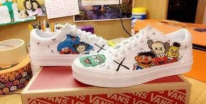 Size 8 Hand painted vans for Sale in Fort Campbell, KY