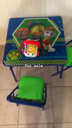 Kids table and chair for Sale in Fontana, CA