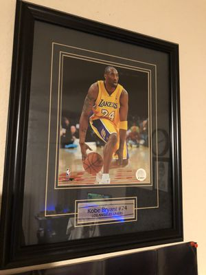 Framed Kobe picture with plaque for Sale in Fresno, CA